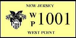 NJ USMA License Plate